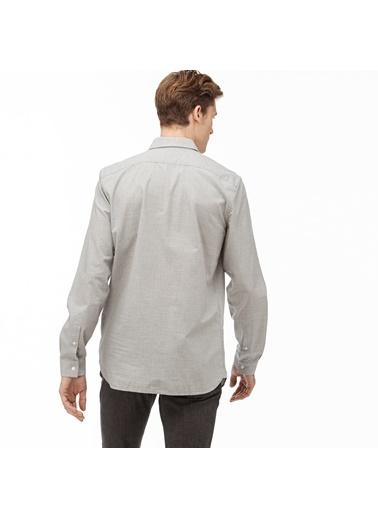 Lacoste Erkek Slim Fit Gömlek CH9668.CCA Gri